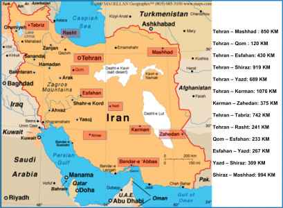 Iran Map Map Of Iran Cities Lets Go Iran - Map of iran