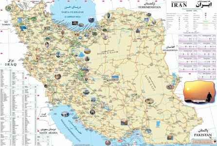 Iran Map | Map of Iran Cities